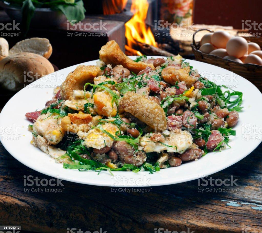 Tropeiro beans stock photo