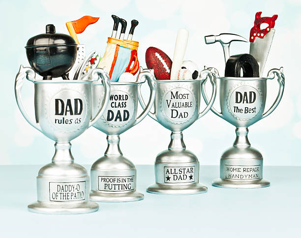 Trophies for Father's Day  all star stock pictures, royalty-free photos & images