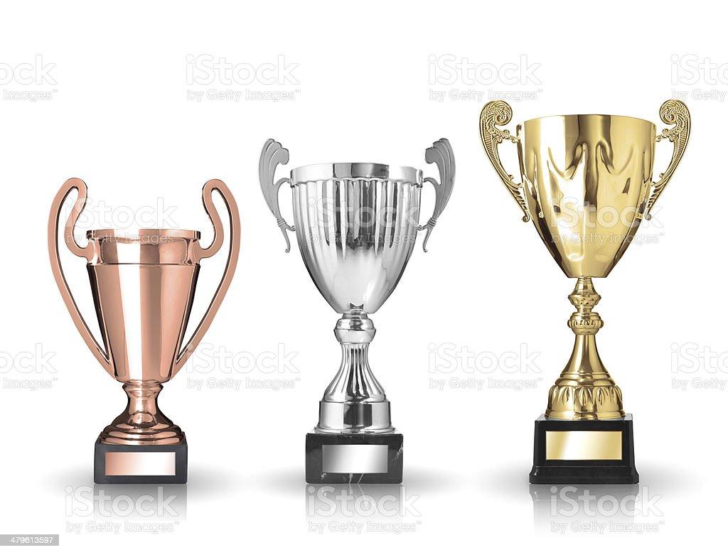 trophies stock photo