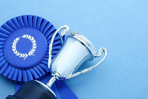 Trophée et ruban bleu - Photo