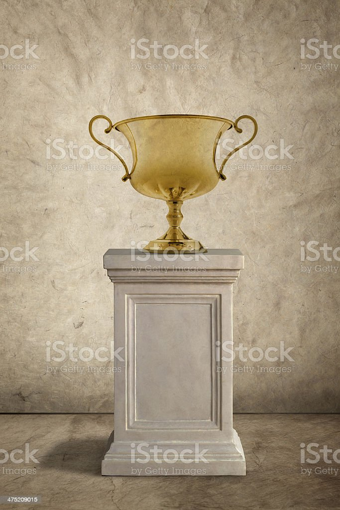 Trophy On A Pedestal royalty-free stock photo
