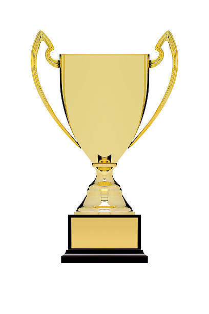 Trophy With Clipping Path stock photo