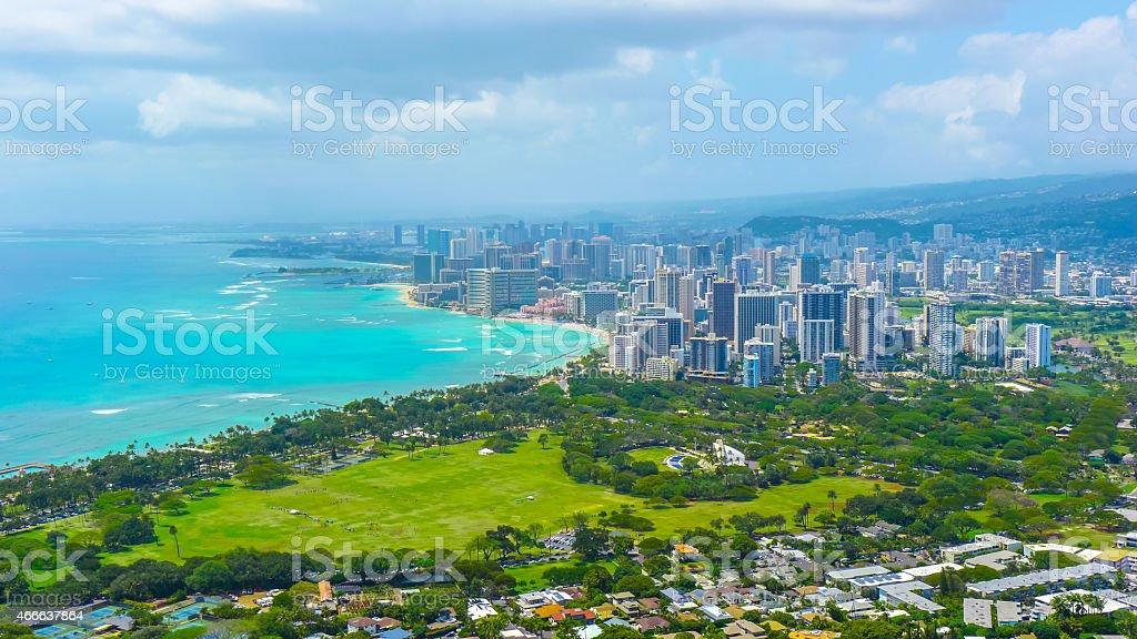 tropic city on the beach stock photo