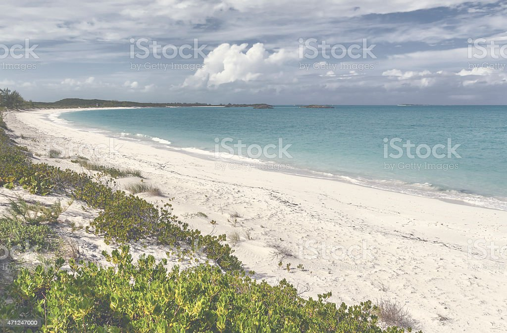 Tropic of Cancer Beach in Exuma - Bahamas stock photo