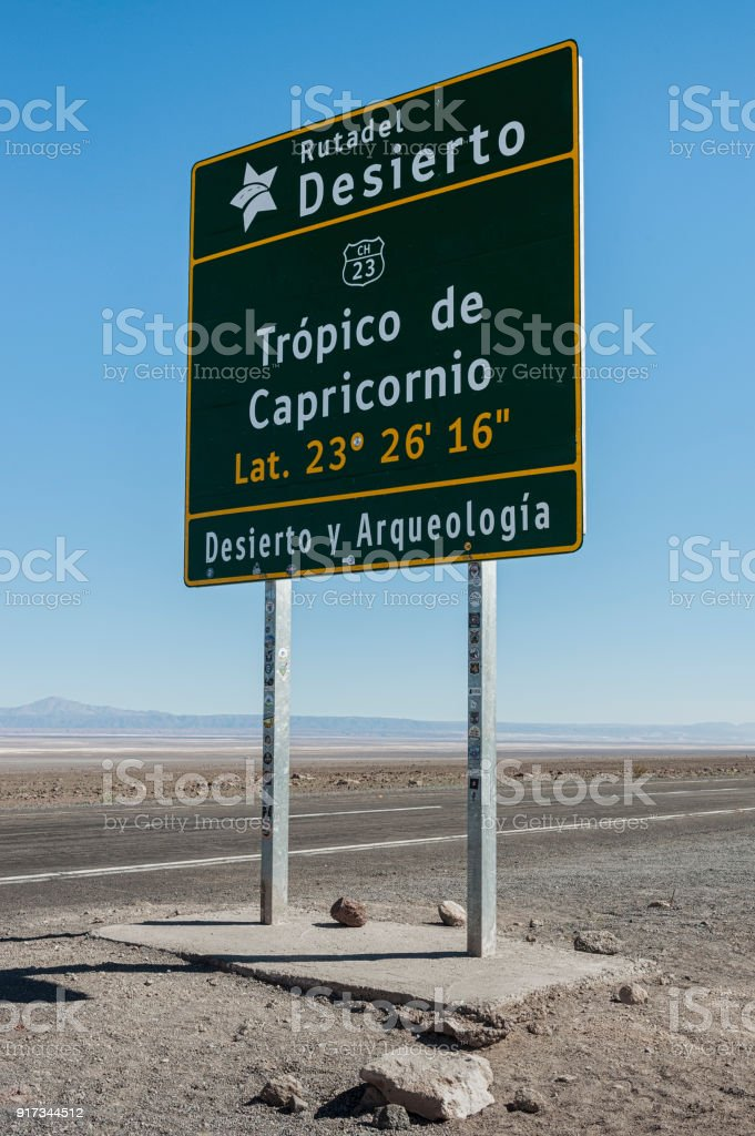 Tropic of Capricorn, Atacama Desert, Chile - South America stock photo