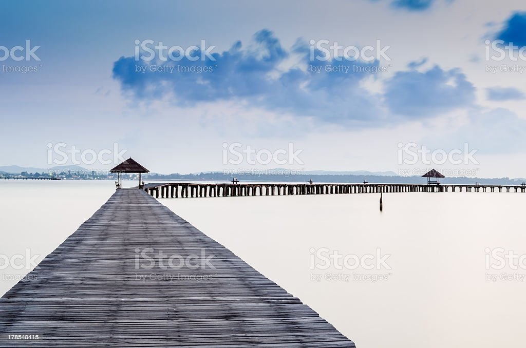 Tropic Paradise Jetty royalty-free stock photo