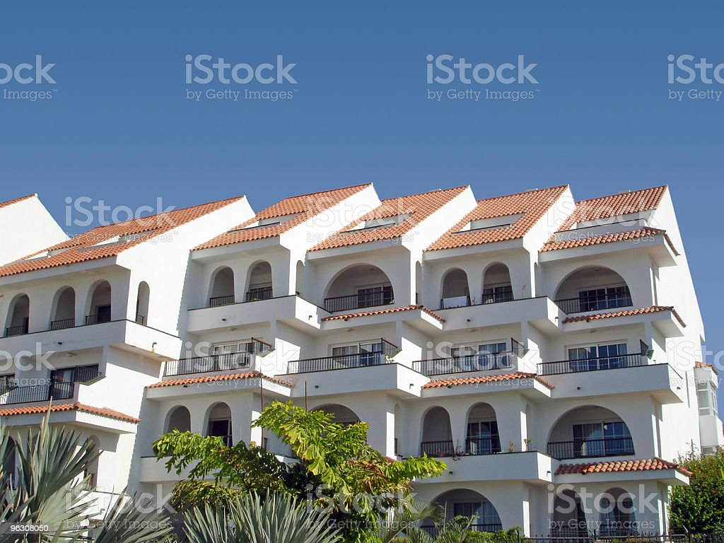 Tropical Apartments royalty-free stock photo