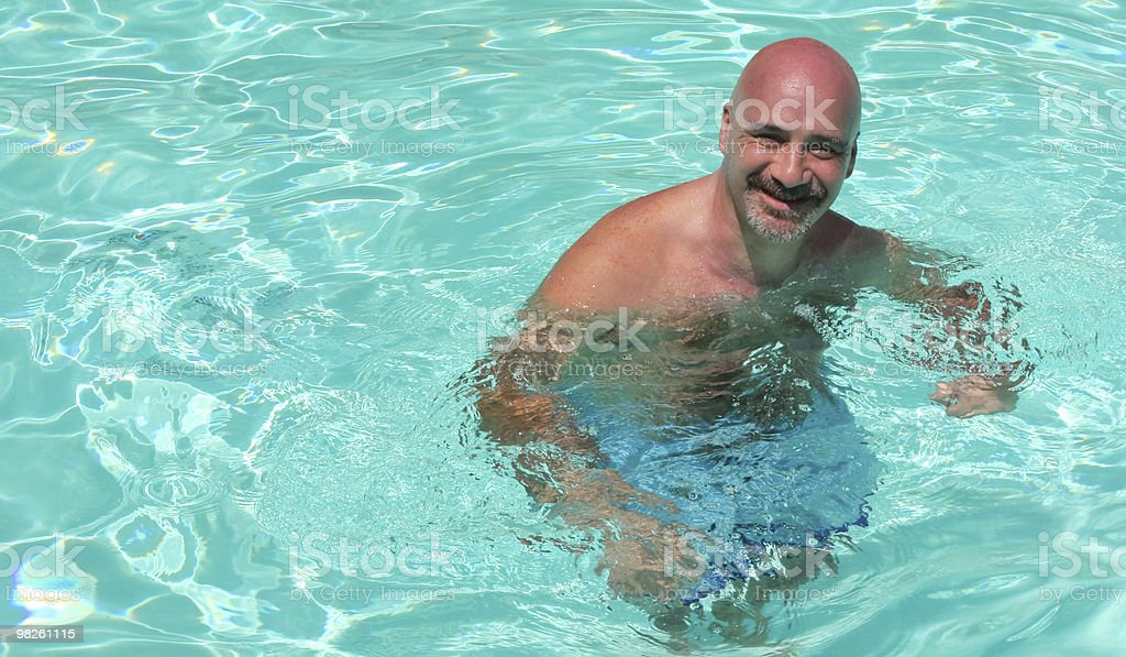 Tropical Backgrounds - Man In The Water royalty-free stock photo