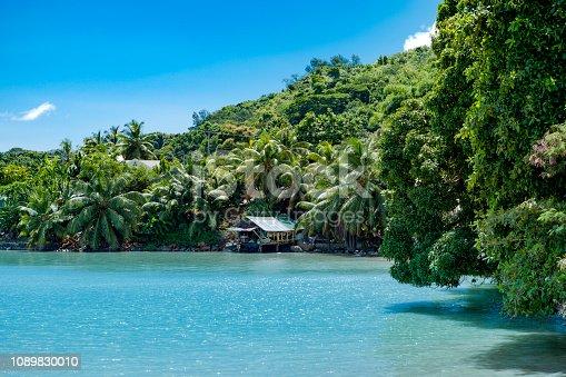 beautiful tropical bay on praslin island, indian ocean, seychelles islands, africa.