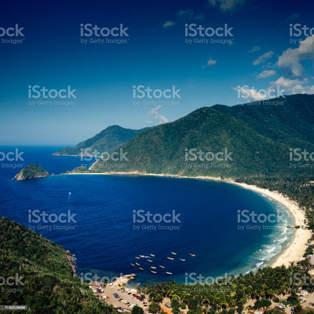 Tropical bay stock photo