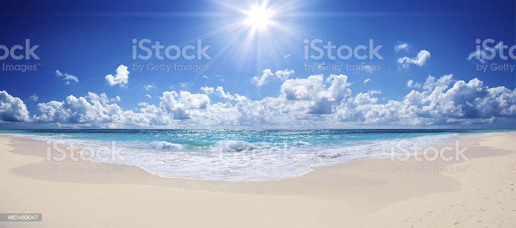 tropical beach and sea - landscape stock photo