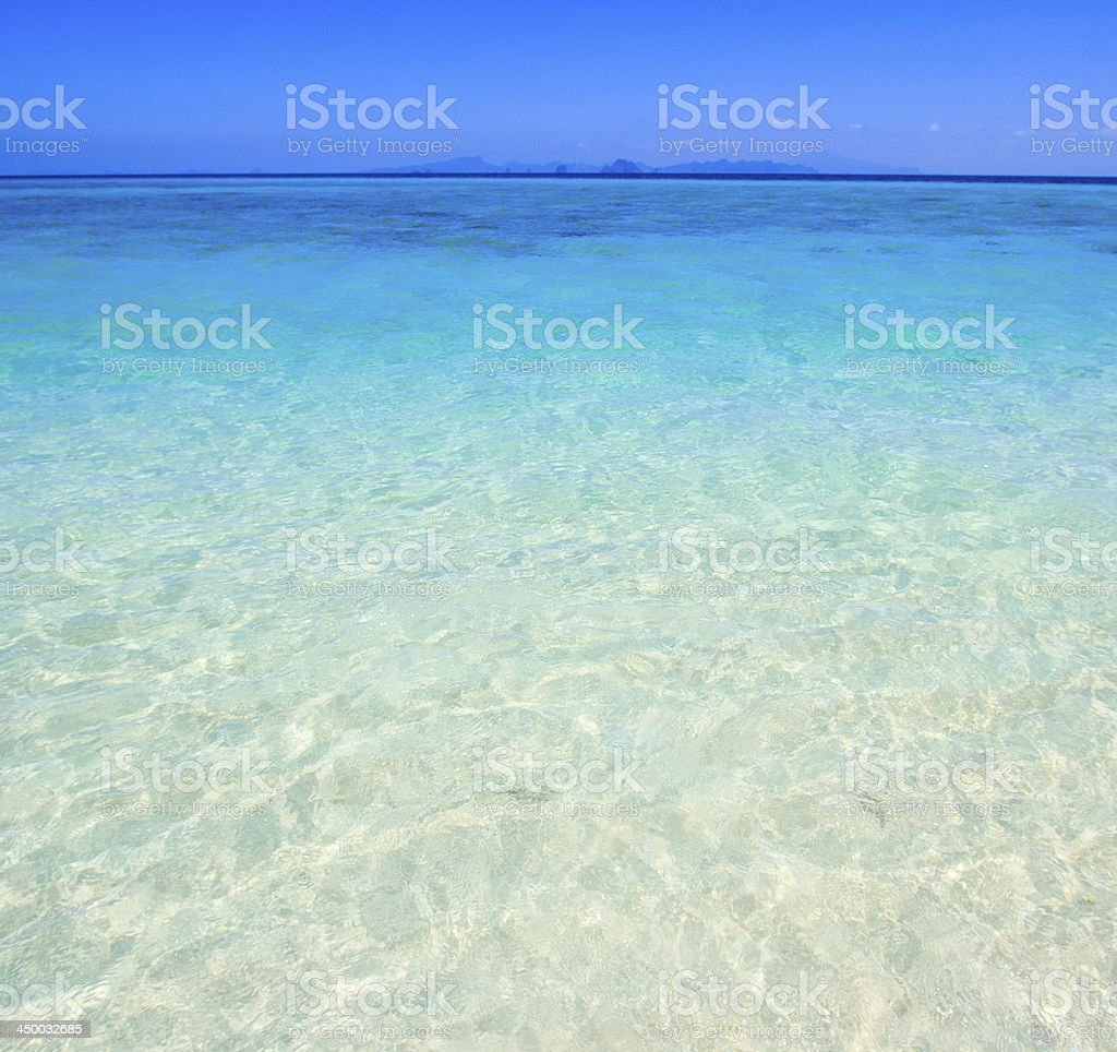 Tropical beach and Wave in Andaman Sea asia Thailand royalty-free stock photo