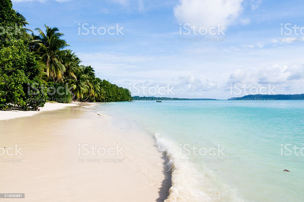 Tropical beach, Andaman Sea stock photo