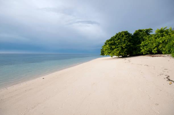 tropischer strand auf lankayan island - borneo - rettungsinsel stock-fotos und bilder