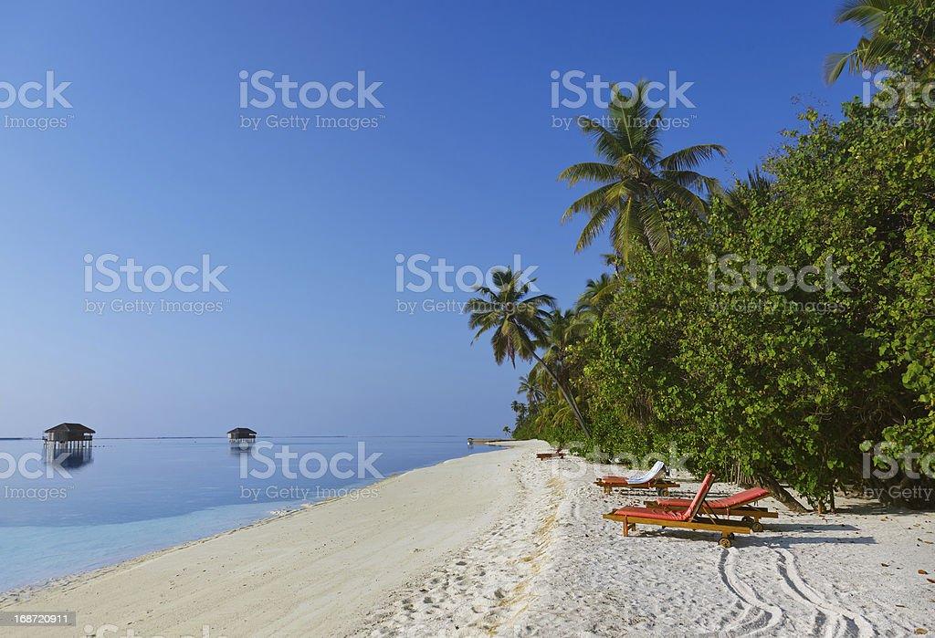 Tropical beach at Maldives royalty-free stock photo