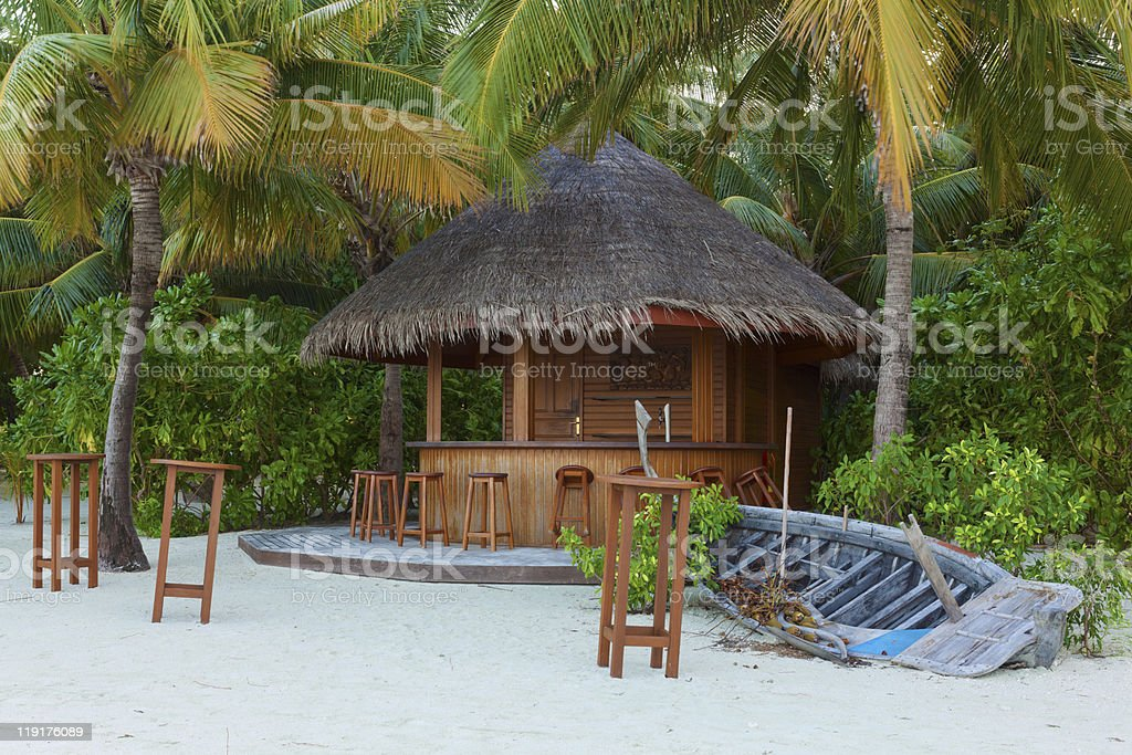 Tropical Beach Bar stock photo