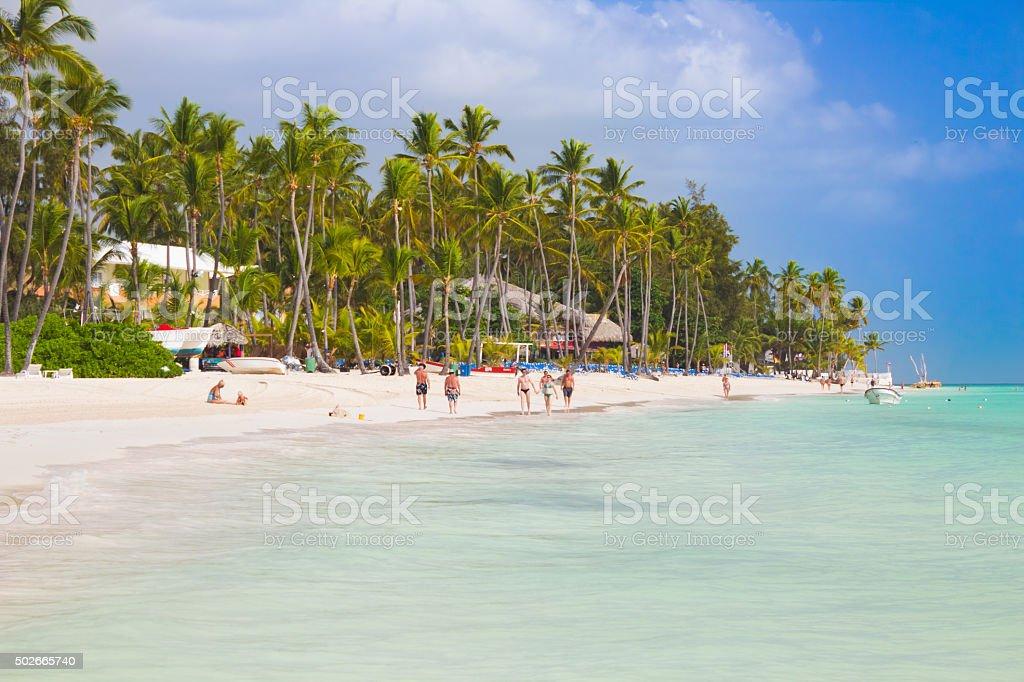 Tropical beach Bavaro stock photo