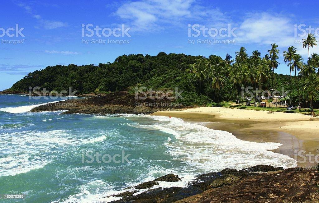 Tropical beach, Brazil stock photo