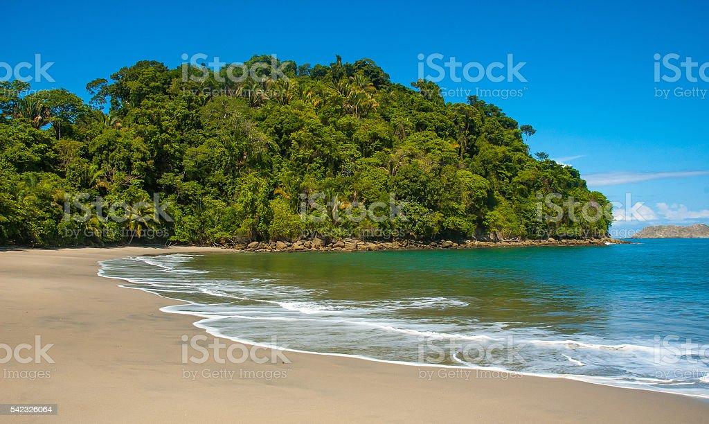 Tropical Beach in Costa Rica stock photo