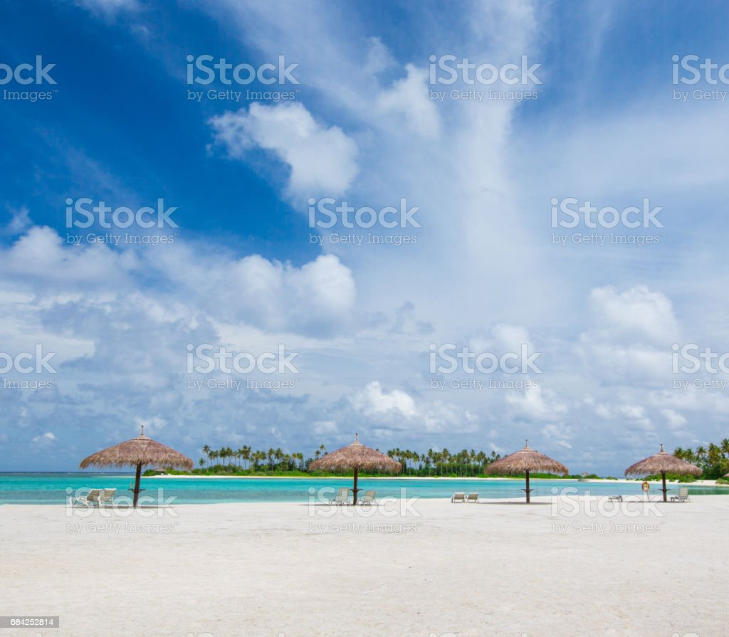 tropical beach in Maldives royalty-free stock photo