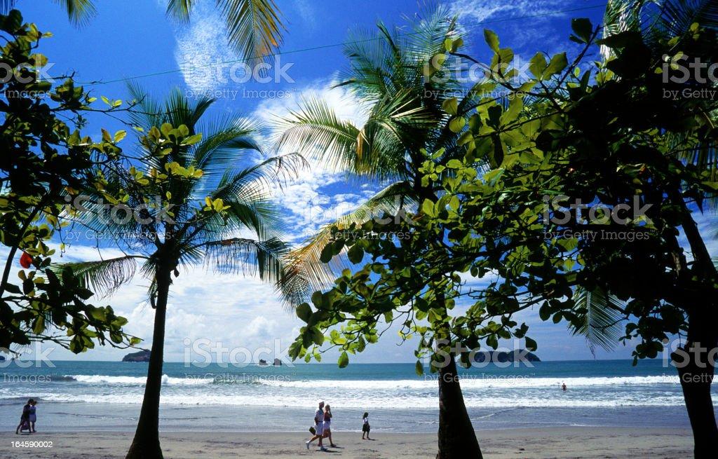 Tropical beach in Manuel Antonio National Park, Costa Rica stock photo