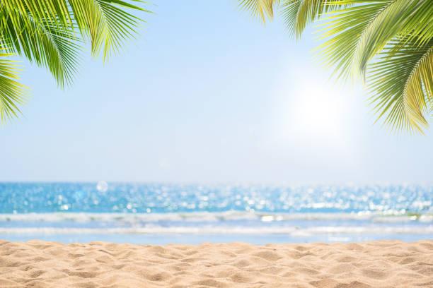 Tropischer Strand im Sommer für den Hintergrund – Foto