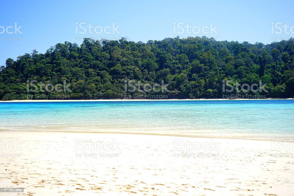 Tropical beach in Thailand royalty-free stock photo