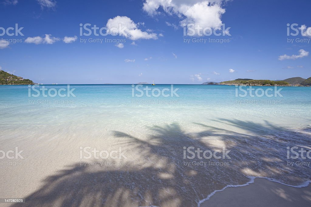 Tropical beach in the Caribbean stock photo
