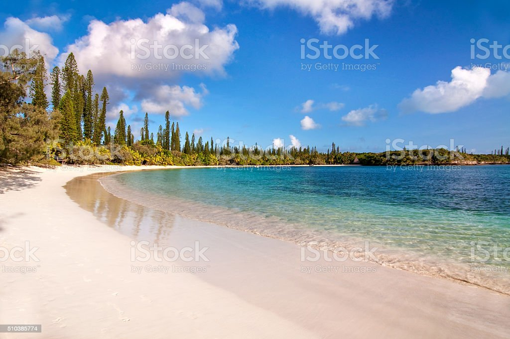 Tropical beach, Isle of Pines, New Caledonia stock photo