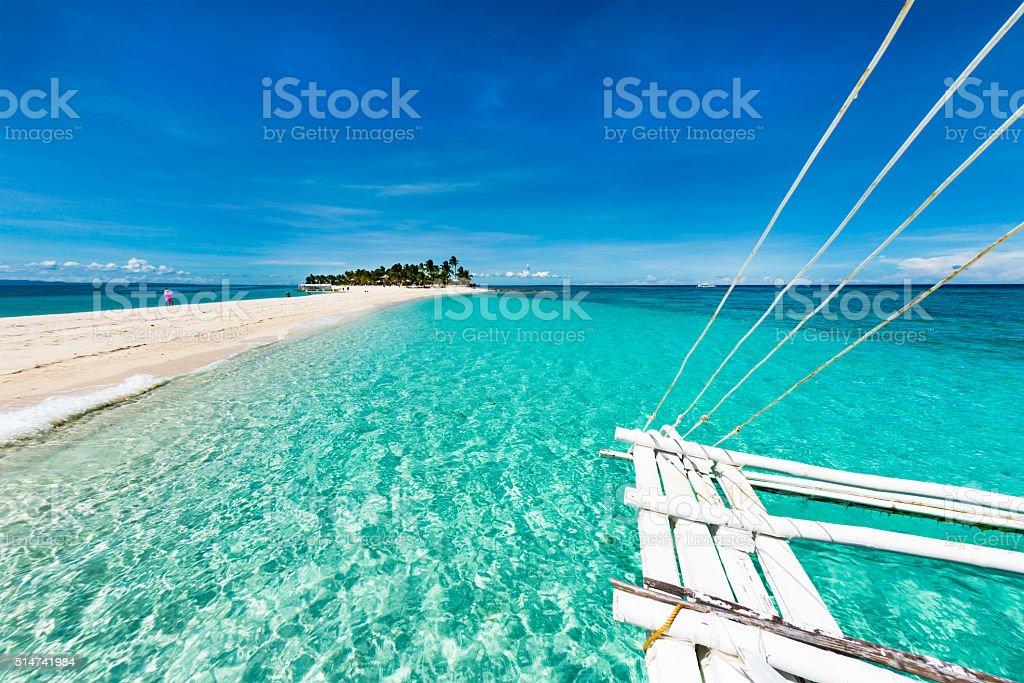 Tropical beach Kalanggaman island stock photo