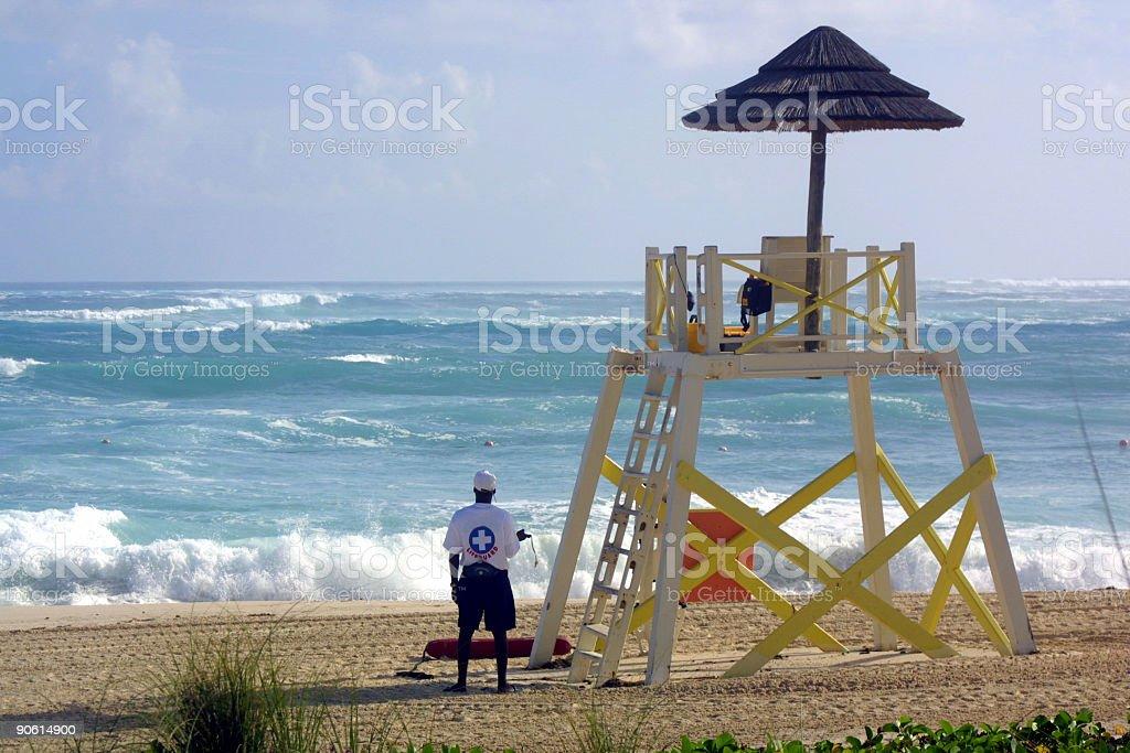 Tropical Beach Lifeguard stock photo