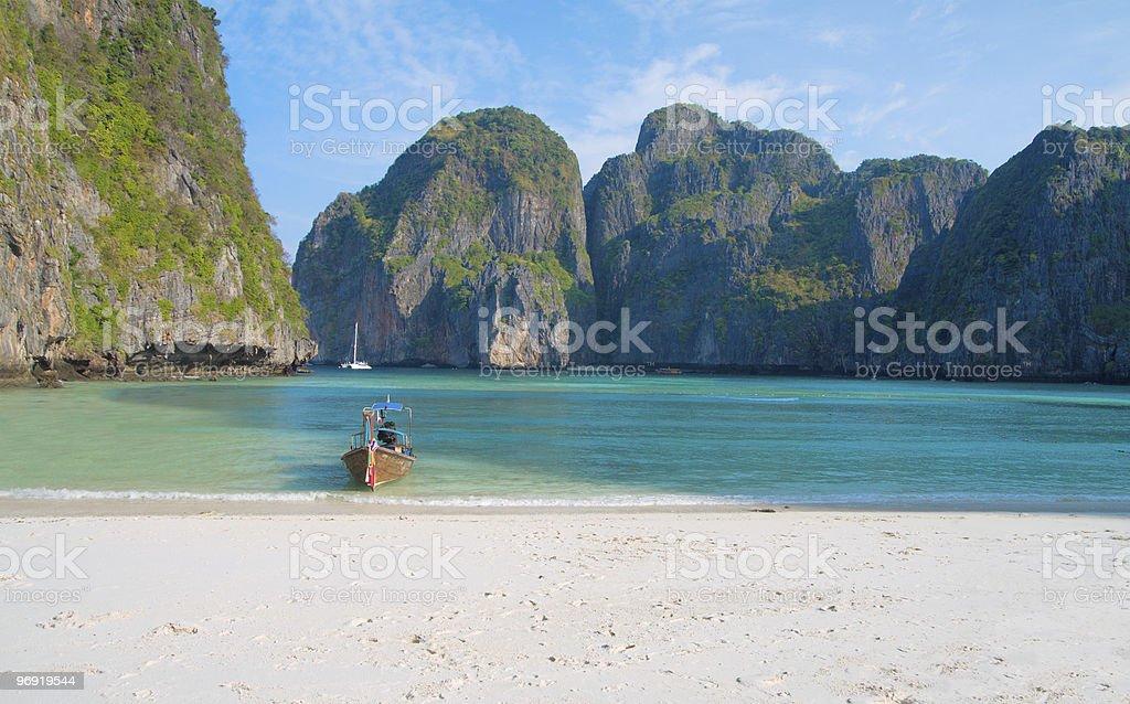 Tropical beach, Maya Bay, Andaman Sea,Thailand royalty-free stock photo