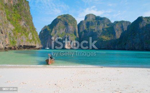 Tropical Beach Maya Bay Andaman Seathailand Stock Photo & More Pictures of Andaman Sea