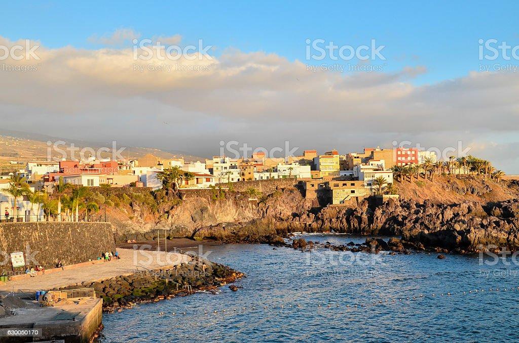 Tropical Beach near the City stock photo