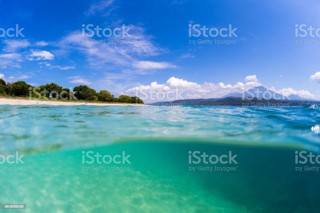 Tropical beach on Bali royalty-free stock photo