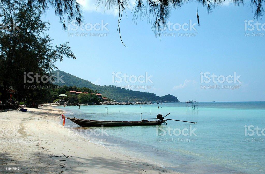 Tropical beach on Koh Tao,Thailand royalty-free stock photo