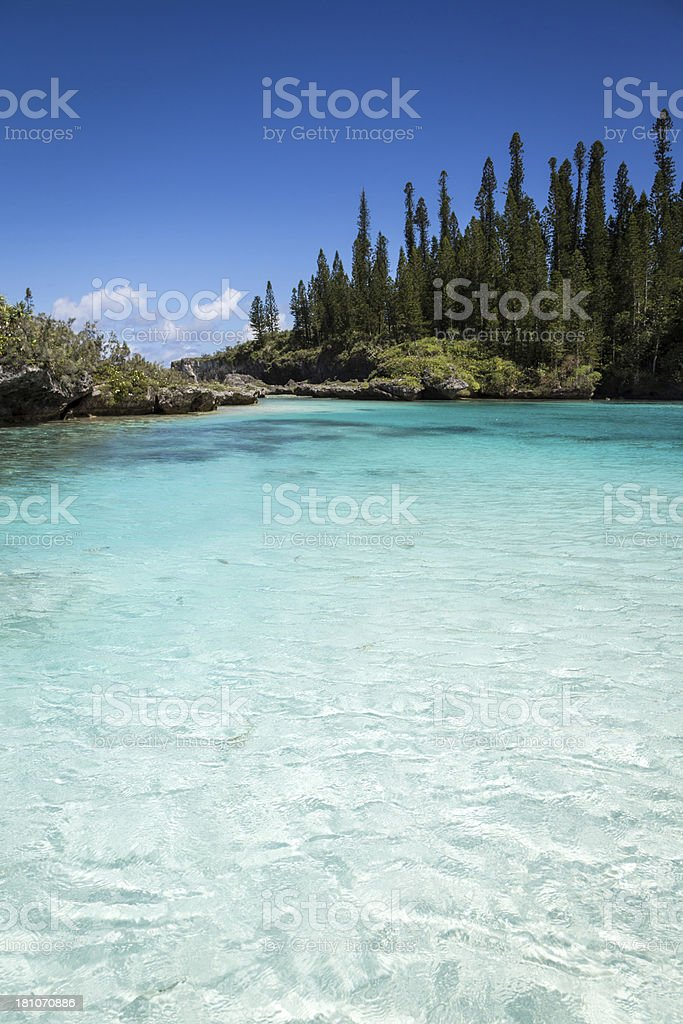 Tropical Beach Paradise, Isle of Pines, New Caledonia royalty-free stock photo