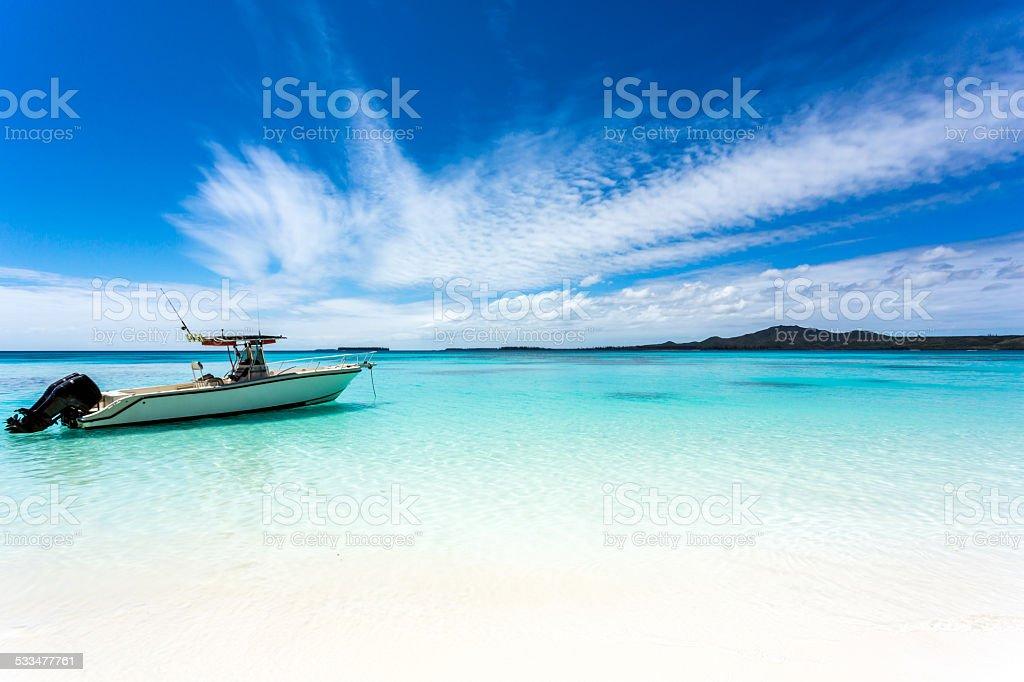 Tropical Beach Paradise, Isle of Pines, New Caledonia stock photo