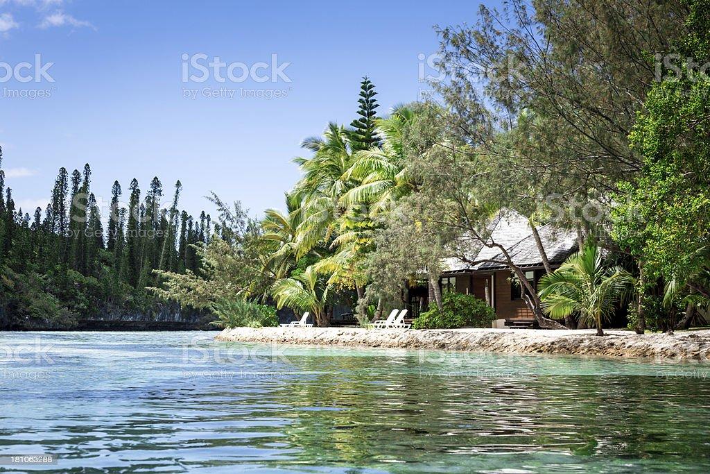 Tropical Beach Paradise stock photo