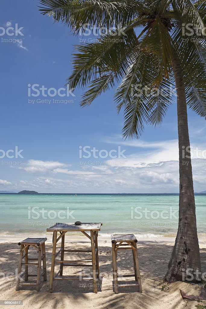 Tropical beach. royalty-free stock photo