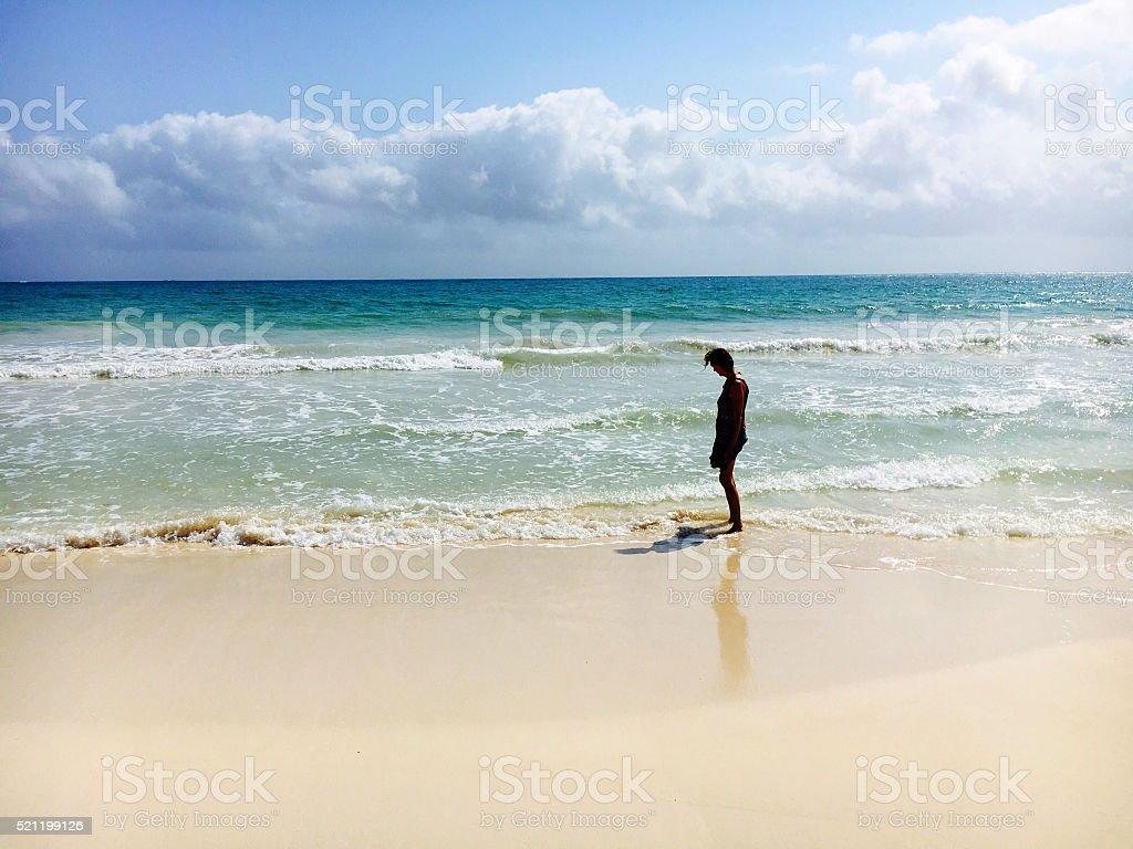 Tropical beach solitude stock photo