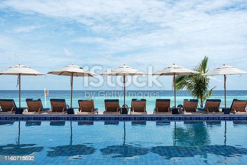 Tropical beach vacation scene