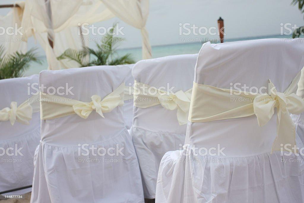 Tropical beach wedding #3 royalty-free stock photo