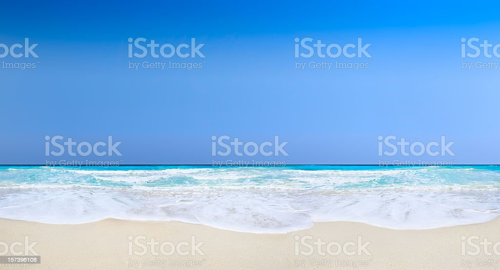 Tropical Beach with  clear blue sky royalty-free stock photo