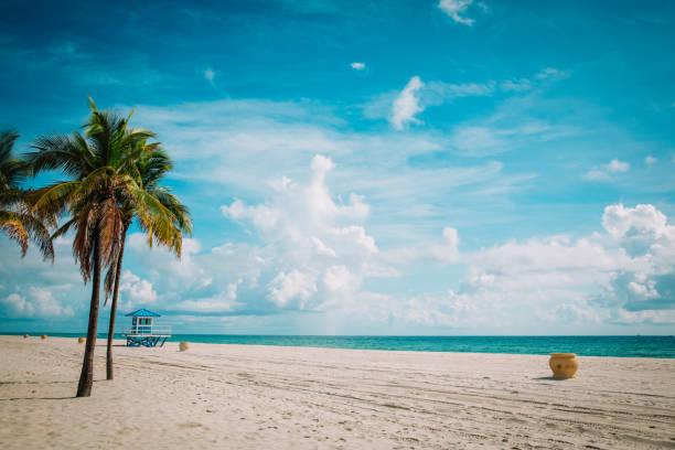 tropischer Strand mit Rettungsschwimmerkabine, Florida, USA – Foto