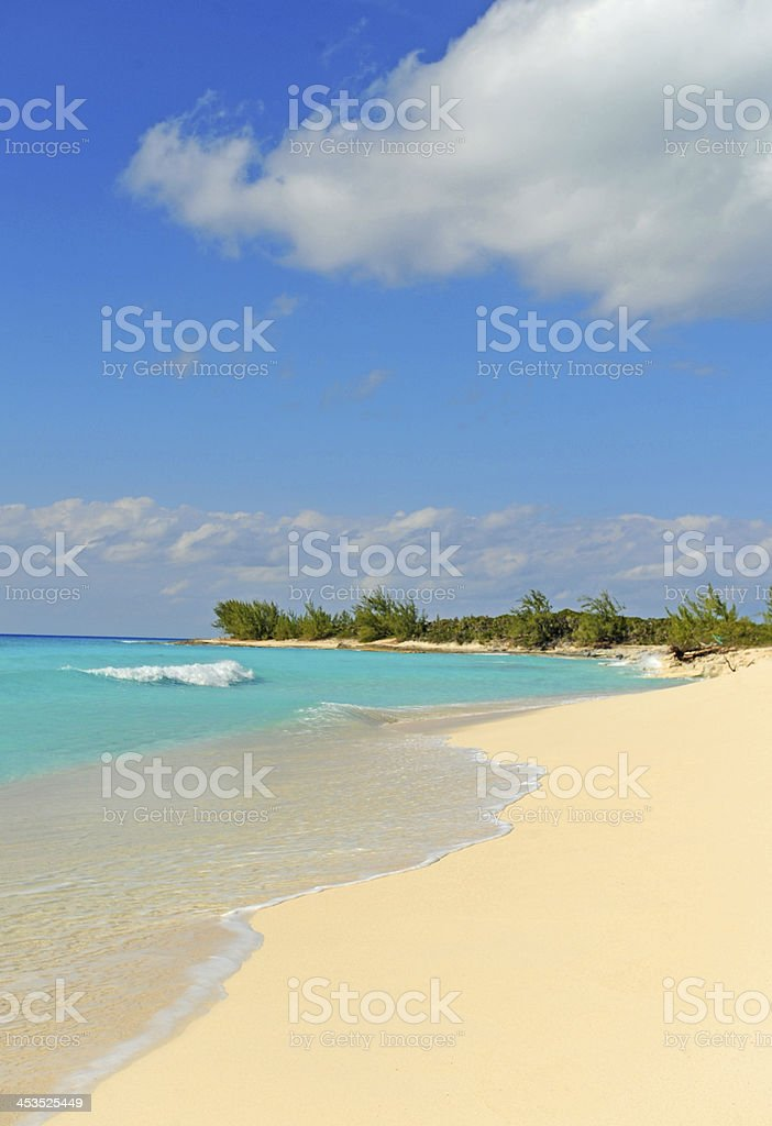 Tropical beach with nobody stock photo