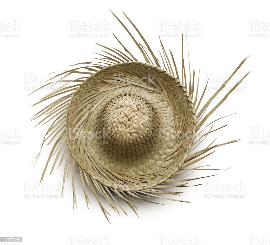 Tropical Beachcomber Hat Isolated On White Background stock photo