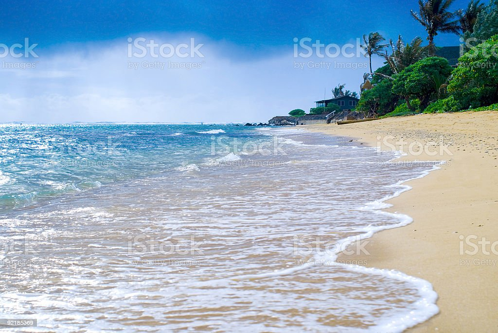 Tropical Beachscape stock photo