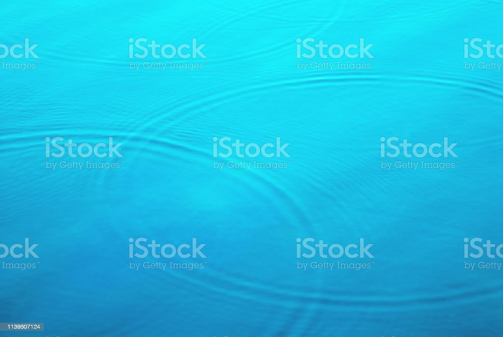 Tropical Blue Aqua Water with Rings and Circles stock photo