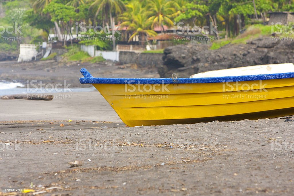 tropical boat royalty-free stock photo